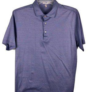 Peter Millar Polo Shirt Purple Striped Mens Medium